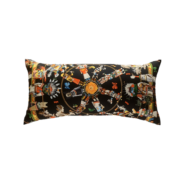 """Kachinas"" Hermès Silk Scarf Pillow"