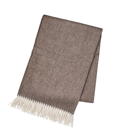 Brown Cashmere Throw - Tribute Goods