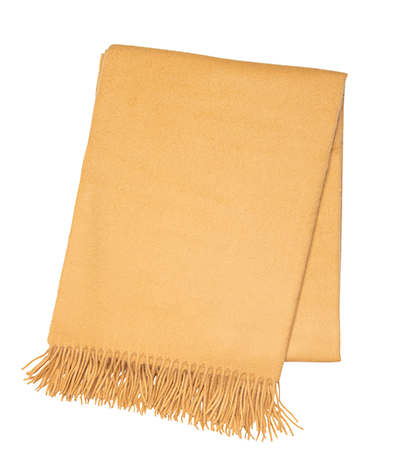 Gold Cashmere Throw - Tribute Goods