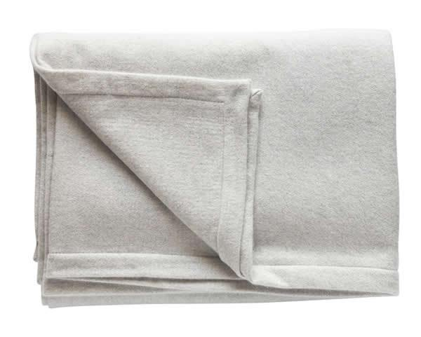 Pale Grey Cashmere & Silk Blanket