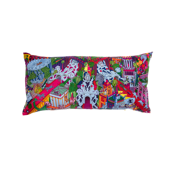 """Animapolis"" Hermès Silk Scarf Pillow"
