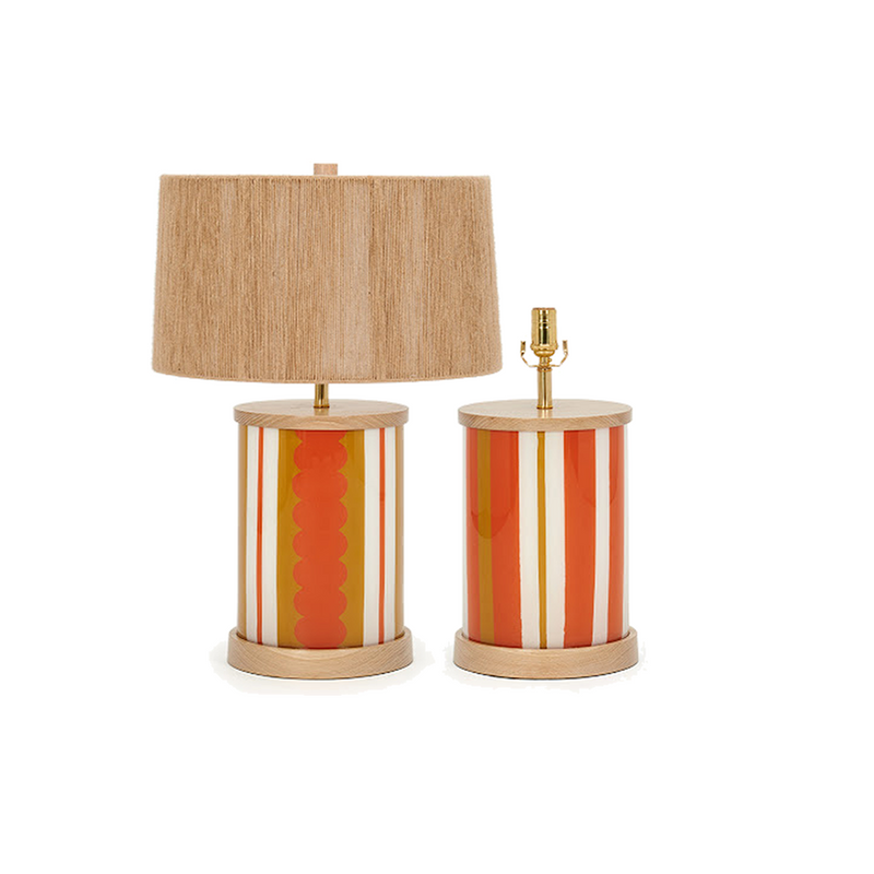 Scallops & Stripes Églomisé Lamp