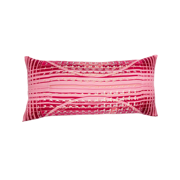 """24 Faubourg Seconde"" Hermès Silk Scarf Pillow"
