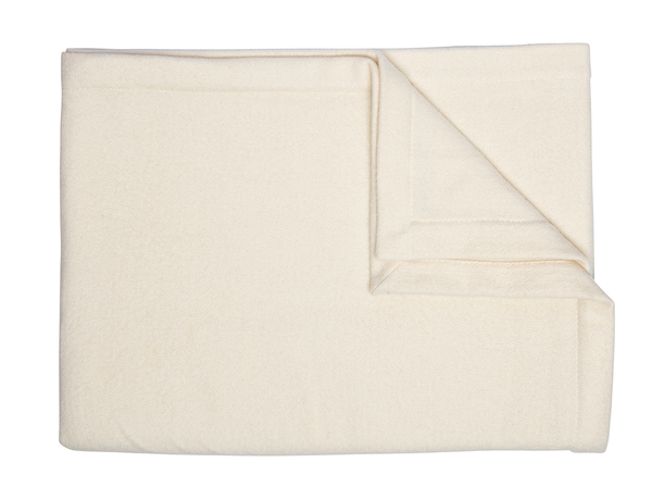 Ivory Cashmere & Silk Blanket - Tribute Goods