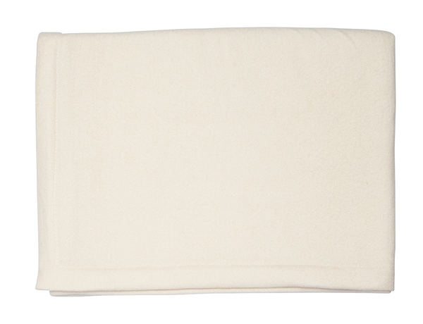 White Cashmere & Silk Blanket