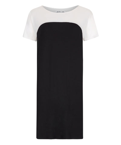Petite Ostara t-shirt dress with short sleeves