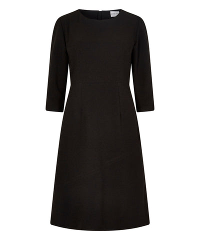 Petite black 3/4 sleeve work dress
