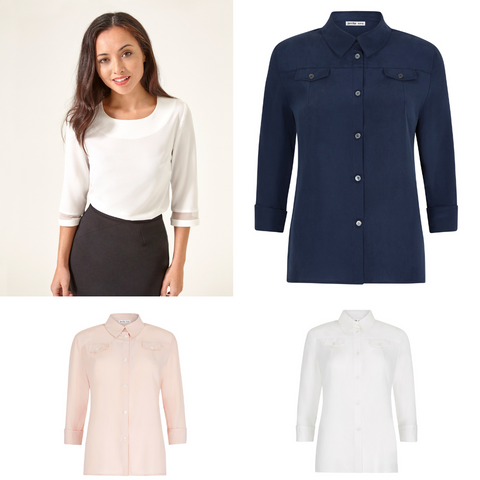 Silk Shirts and Long sleeved petite tops
