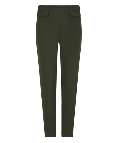 petite slim fitting khaki pocket trousers