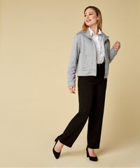 Petite Black Side Panel Trousers - Jennifer-Anne