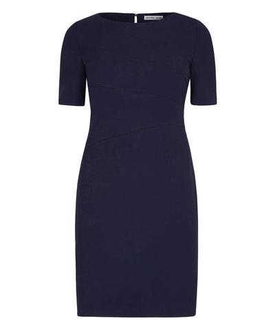 Petite Navy Blue Panel Shift Dress - Jennifer-Anne