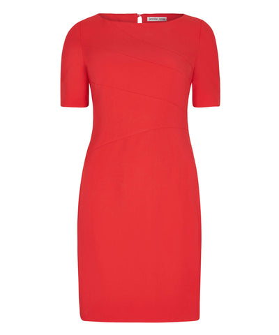Petite red shift dress