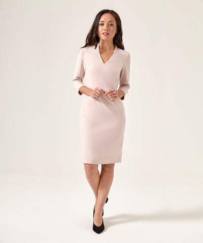 Petite Blush V-Neck Shift Dress - Use Code Anniversary for 25% off!
