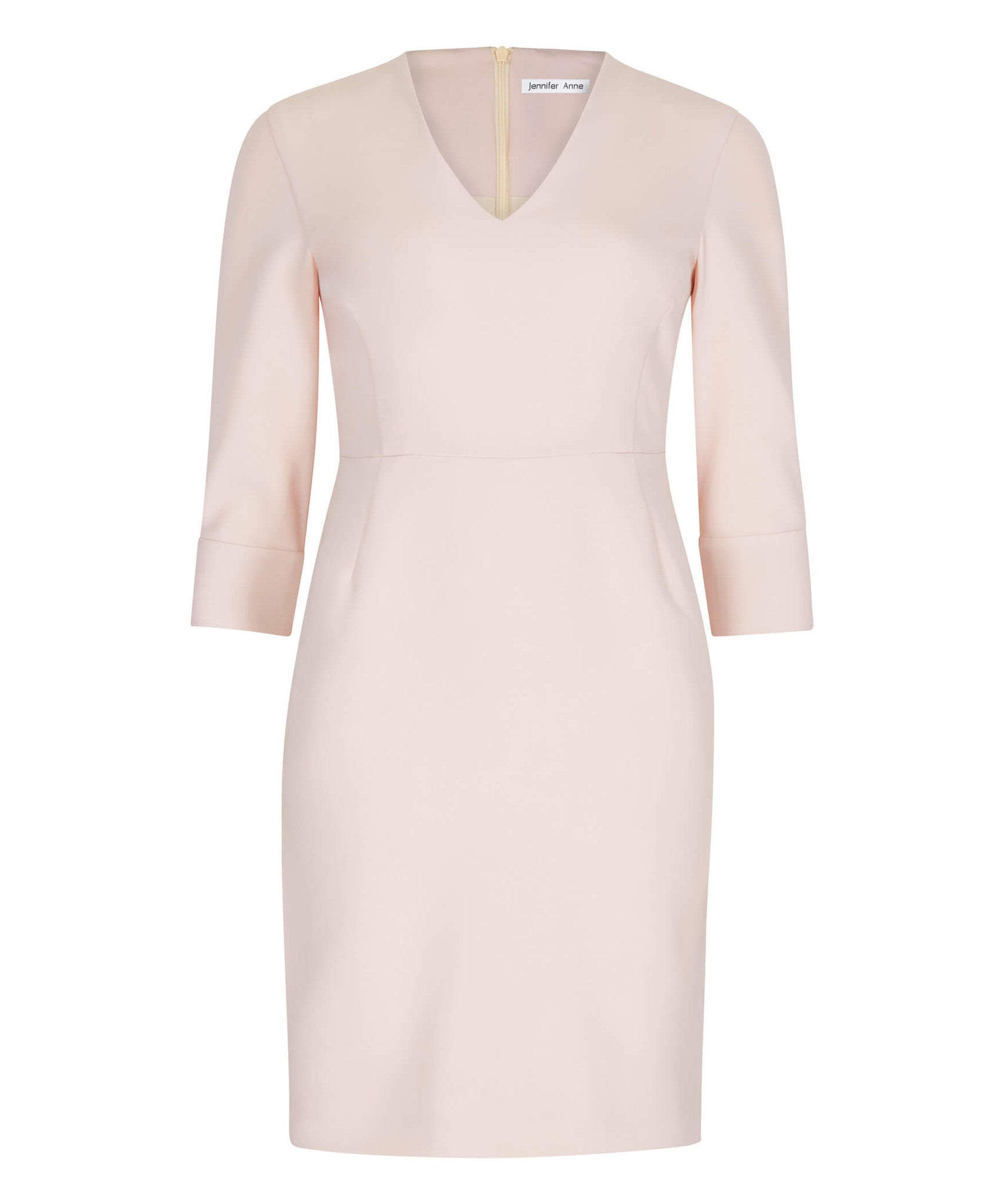 Petite Blush V-Neck Shift Dress - Sale! - Jennifer-Anne