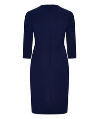 Petite Navy V-Neck Shift Dress - Jennifer-Anne