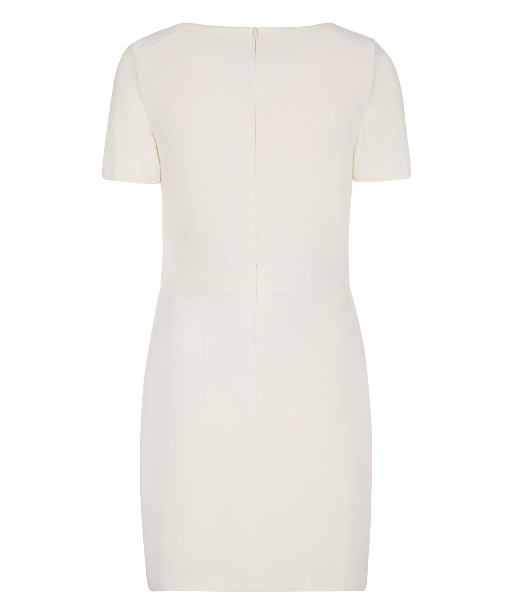 Petite Square Neck Ivory Dress - Jennifer-Anne