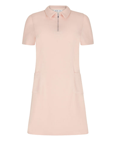 Petite Blush Polo Dress
