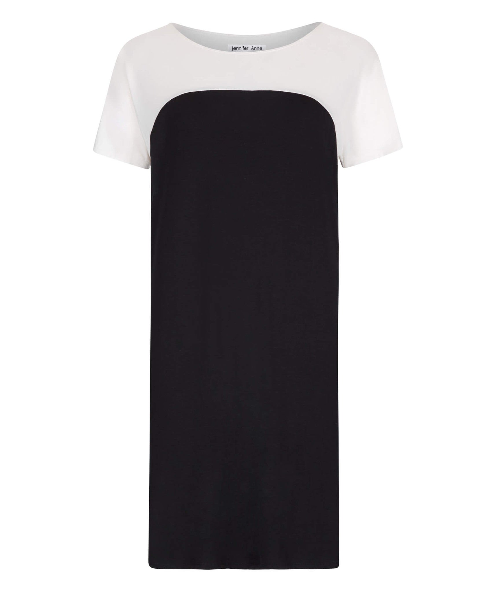Petite Black T-Shirt Dress - Jennifer-Anne