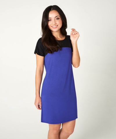 Petite Blue T-Shirt Dress - Jennifer-Anne