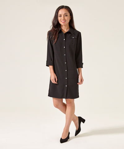 Petite Black Shirt Dress - Use Code Anniversary for 25% off!