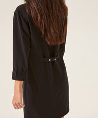 Petite Black Shirt Dress - Jennifer-Anne
