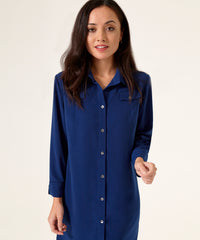 Petite Blue Shirt Dress - Sale! - Jennifer-Anne