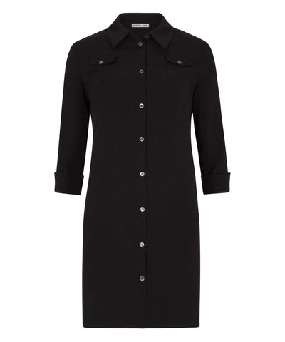 Petite Black Shirt Dress