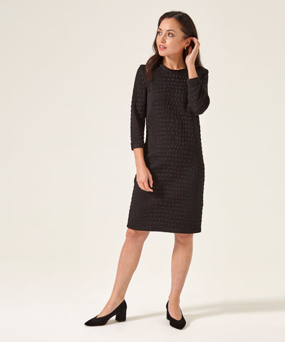 Petite Black Sweater Dress - Jennifer-Anne