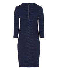 Petite Navy Blue Sweater Dress - Jennifer-Anne
