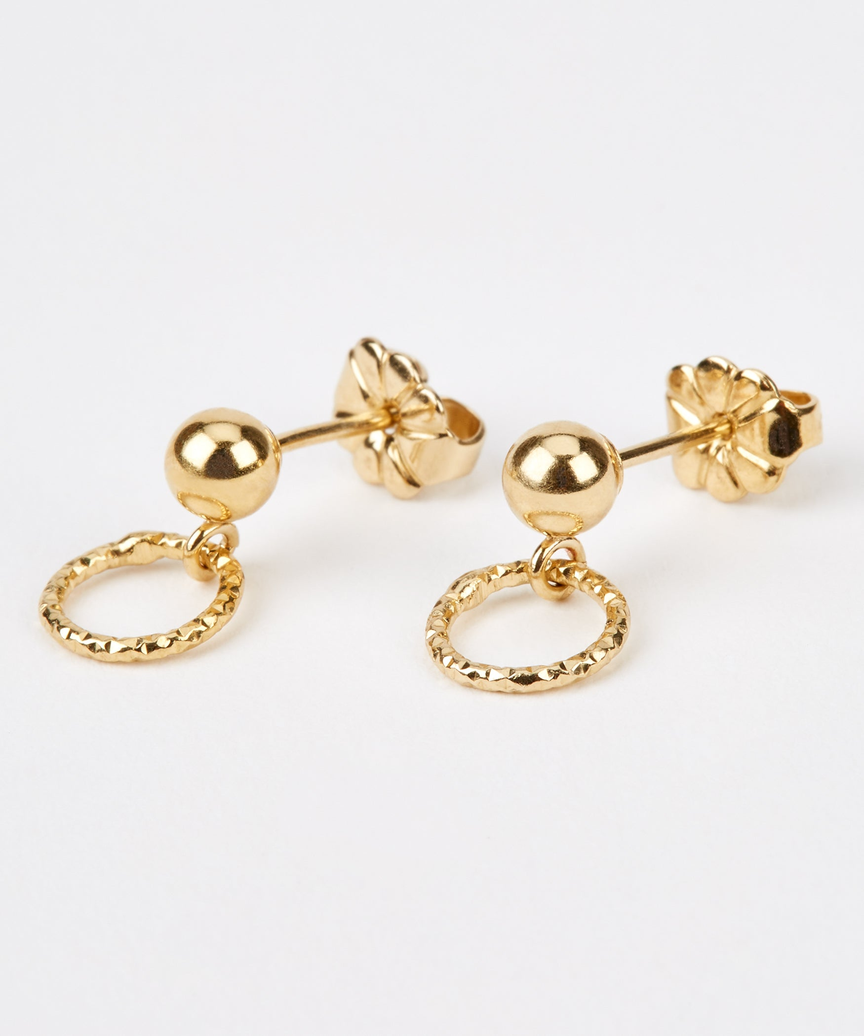 Facet Hoop Earrings (Small) - Jennifer-Anne