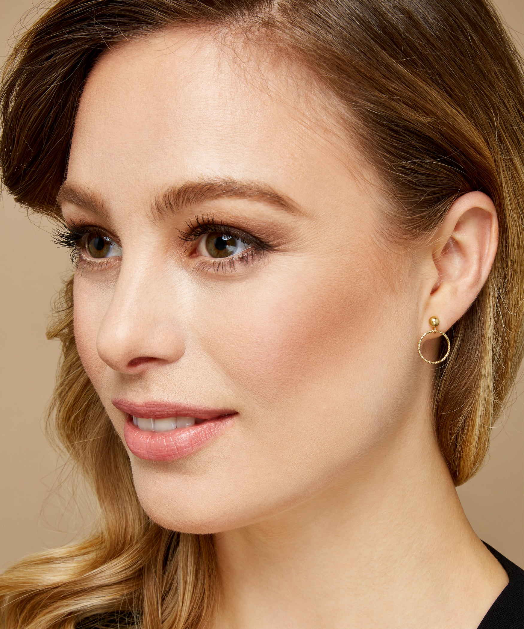 Facet Hoop Earrings (Large) - Jennifer-Anne