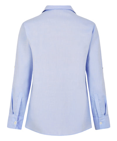Petite Blue Cotton Shirt - Jennifer-Anne