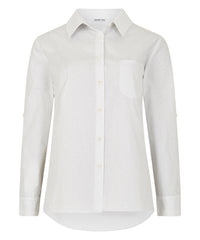 Petite Ivory Patterned Cotton Shirt - Jennifer-Anne