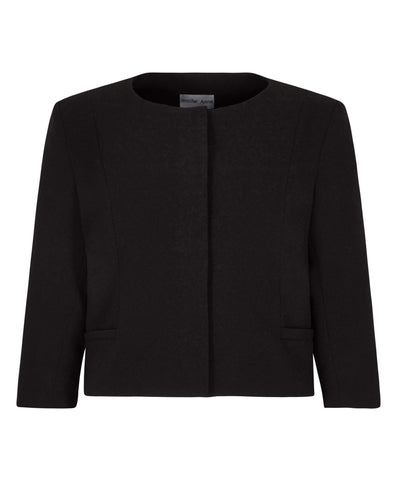 Petite Black Cropped Jacket - Jennifer-Anne