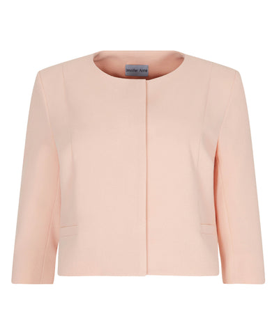 Petite blush cropped jacket