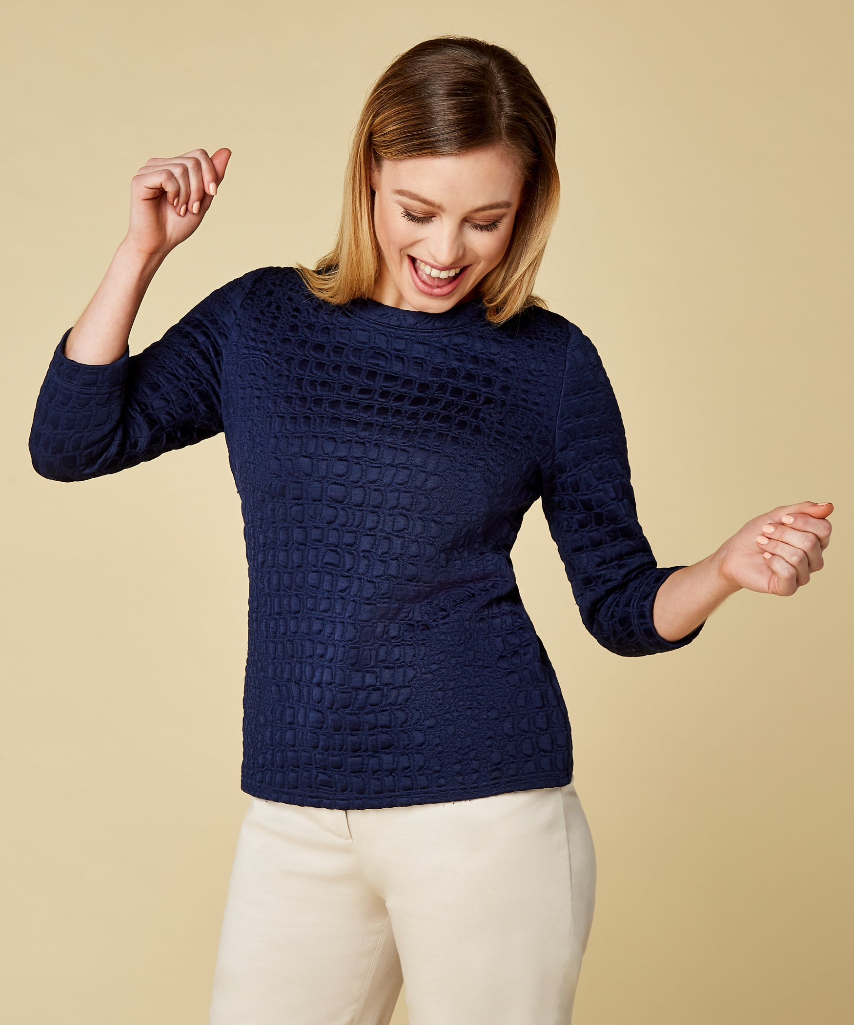 Petite Navy Sweater - Jennifer-Anne