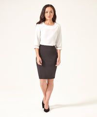 Petite Black Pencil Skirt - Jennifer-Anne