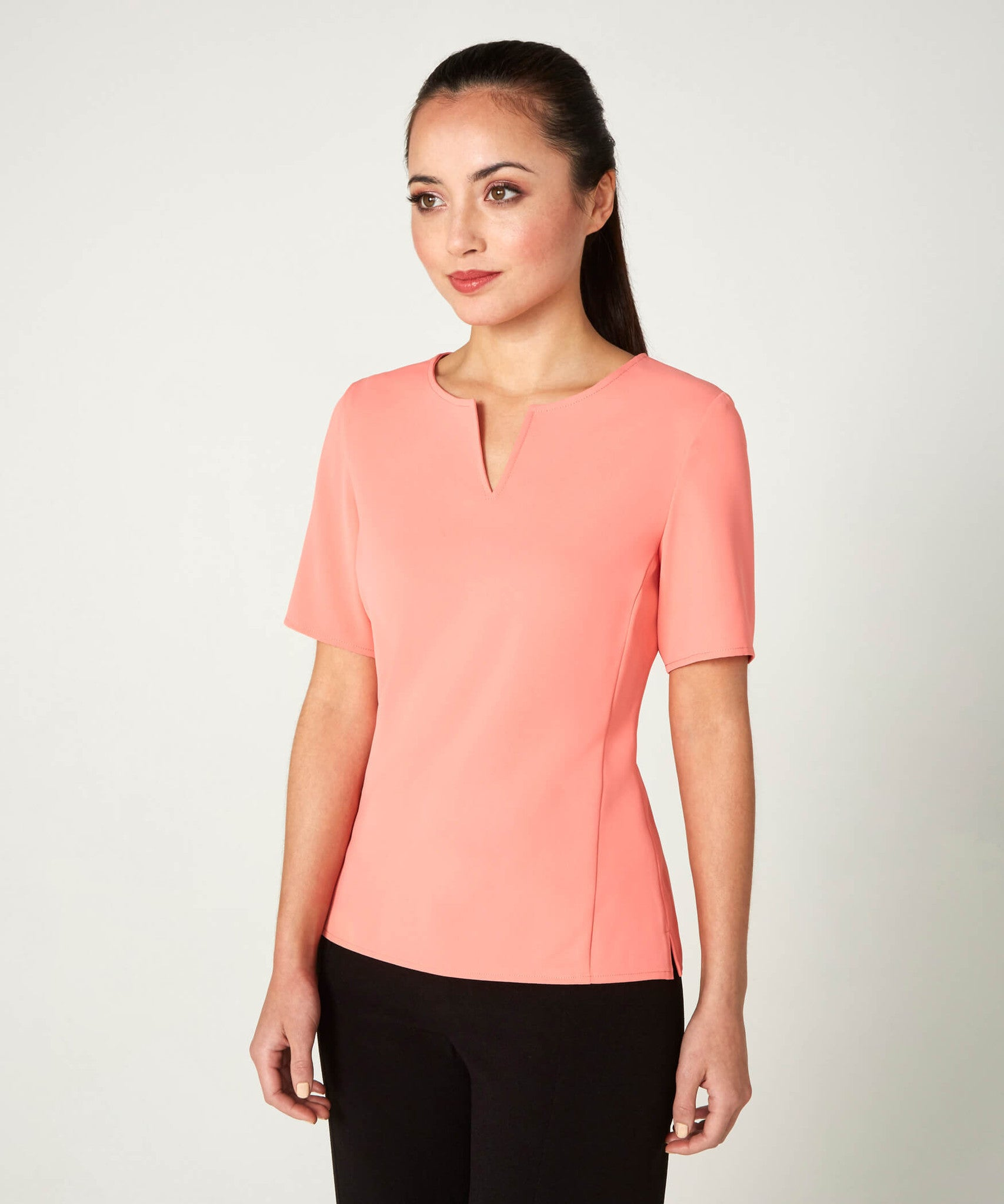 Petite Coral Notch Neck Top - Jennifer-Anne