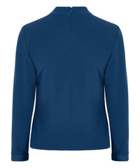 Petite Blue High Neck Top - Jennifer-Anne