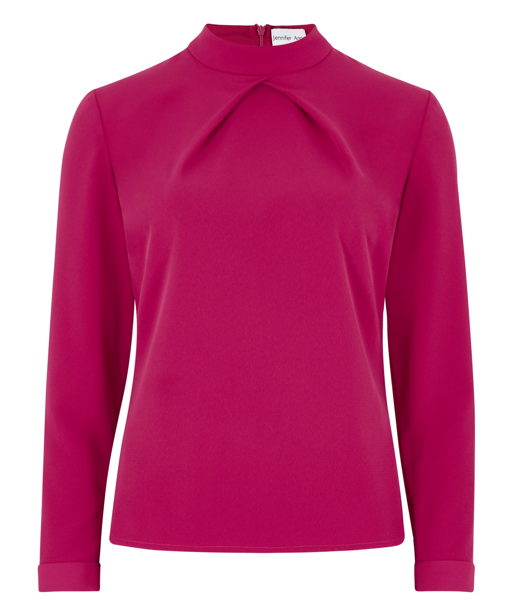 Petite Fuschia High Neck Top - Use Code Anniversary for 25% off!