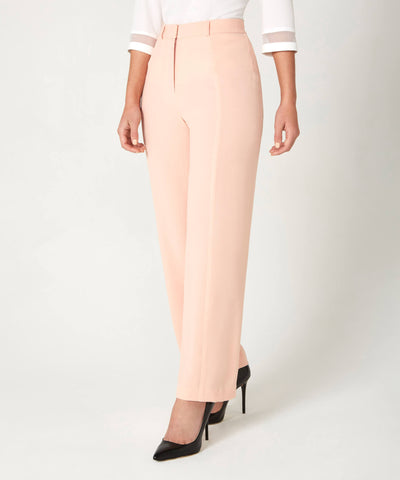 Petite Blush Side Panel Trousers - Jennifer-Anne