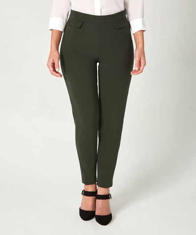 Petite Khaki Pocket Trousers - Jennifer-Anne