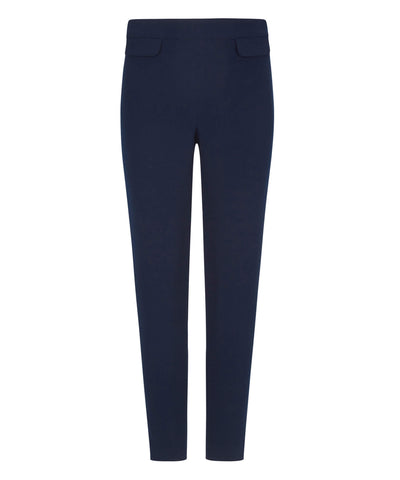 Petite navy pocket trousers