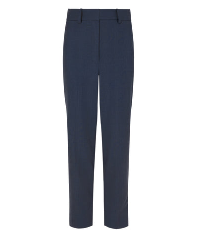 Petite Navy Blue Merino Wool Trousers - Jennifer-Anne