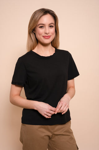Petite Black Bamboo And Organic Cotton Blend T shirt