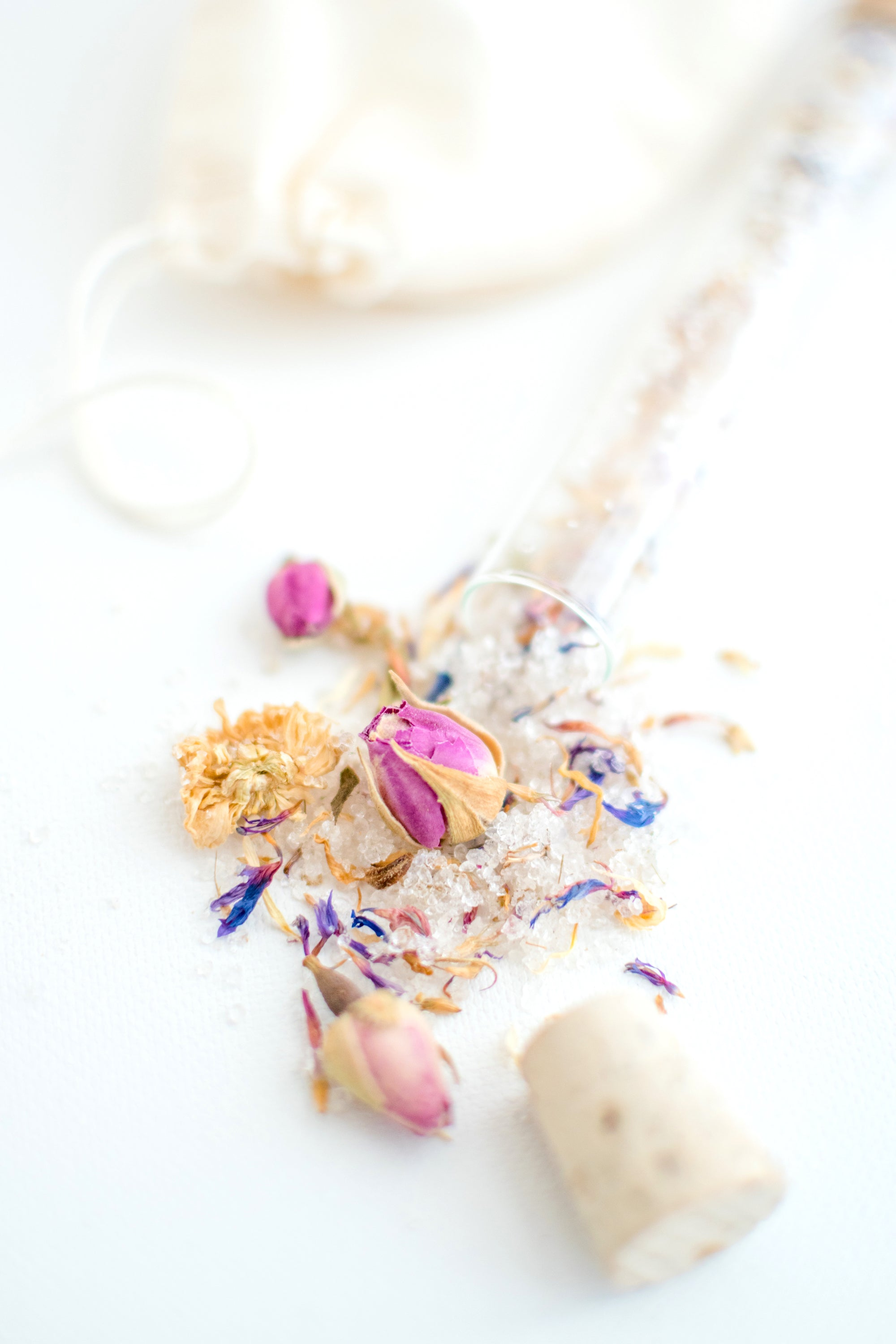 Truly Aesthetic Bestow Floral Petite Bath Affirmations Bath Salts Ingredients Close Up