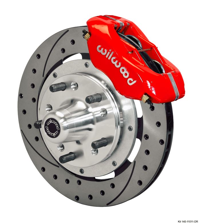 Wilwood - Forged Dynalite Pro Series Front Slotted & Drilled Disc Brake Kit (Red Calipers)