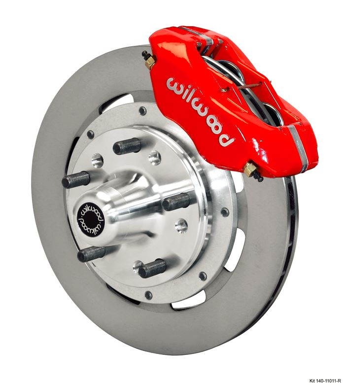 Wilwood - Forged Dynalite Pro Series Front Undrilled Disc Brake Kit (Red Calipers)