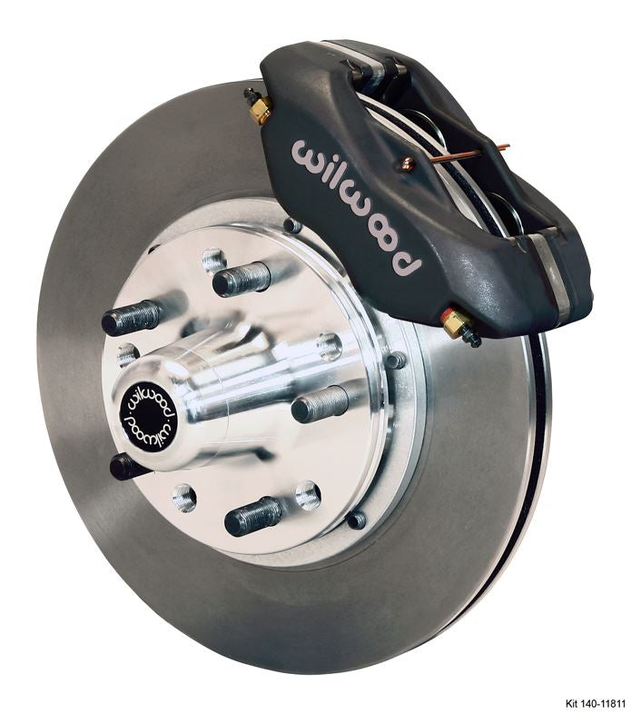 Wilwood - Forged Dynalite Pro Series Front Undrilled Disc Brake Kit (Black Calipers)