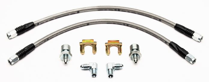 Flexline Kit - Includes 18in. Hose ,3/8-24 Chassis Fitting & 90 DEG Fitting (Domestic Universal)